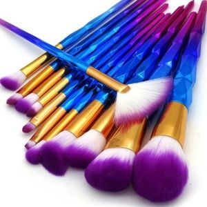 12pcs Unicorn Mermaid Makeup Brushes Set